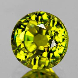 6.30 mm {1.18 cts} Round AAA Fire AAA Vivid Canary Yellow Mali Garnet Natural {Flawless-VVS}
