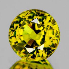 6.50 mm {1.22 cts} Round AAA Fire AAA Vivid Yellow Mali Garnet Natural {Flawless-VVS}