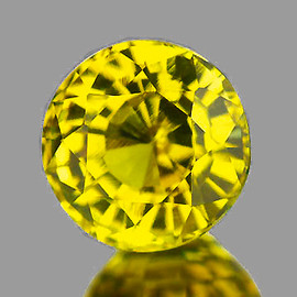 6.50 mm {1.52 cts} Round AAA Fire AAA Vivid Yellow Mali Garnet Natural {Flawless-VVS}