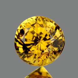 6.50 mm {1.60 cts} Round Best AAA Fire AAA Vivid Yellow Mali Garnet Natural {Flawless-VVS1}