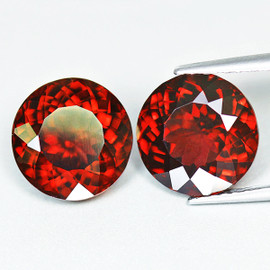5.70 mm 2pcs Round {1.98 cts} AAA Fire AAA Mandarin Orange Spessartite Garnet Natural {Flawless-VVS1}