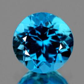 7.00 mm Round Best Sparkling AAA Swiss Blue Topaz Natural {Flawless-VVS1}