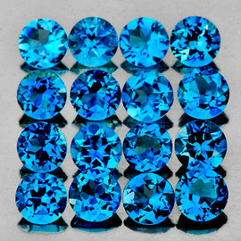 3.50 mm 16 pcs Round Best Sparkling AAA London Blue Topaz Natural {Flawless-VVS1}