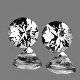 1.90 mm 2 pcs Round Color D-F White Diamond Natural {VVS} AAA Grade