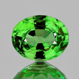 5x4 mm Oval AAA Fire Natural Green Tsavorite Garnet {VVS}