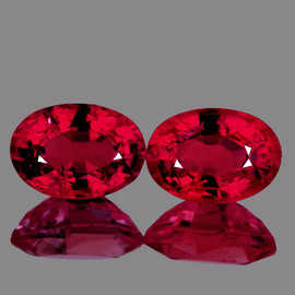 7x5 mm 2 pcs Oval AAA Fire AAA Red Mozambique Ruby Natural {VVS Clarity}--AAA Grade