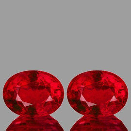 8x6 mm 2 pcs Oval AAA Fire AAA Red Mozambique Ruby Natural {VVS-VS Clarity}--AAA Grade