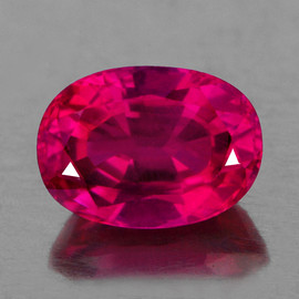 7x5 mm 1 pcs Oval AAA Fire AAA Red Mozambique Ruby Natural {VVS Clarity}--AAA Grade