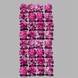 1.70 mm 44 pcs {1.23 cts} Round AAA Fire AAA Reddish Pink Sapphire Natural {Flawless-VVS1} --Unheated AAA Grade