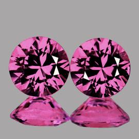 3.50 mm 2 pcs Round Brilliant Cut AAA Pink Sapphire Natural {Flawless-VVS1} --Unheated AAA Grade