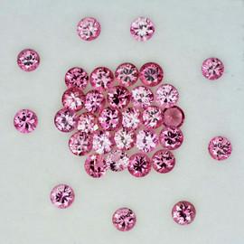 2.20 mm 16 pcs Round Brilliant Cut AAA Padparadscha Pink Sapphire Natural {Flawless-VVS1} --Unheated AAA Grade