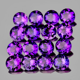 3.00 mm 30 pcs Round Best AAA Fire Intense Purple Amethyst Natural {Flawless-VVS1}