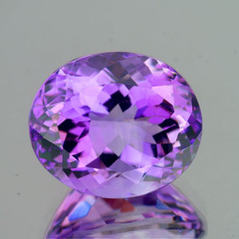 13x11 mm {5.68 cts} Oval AAA Fire Top Purple Amethyst Natural {Flawless-VVS1}