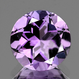 7.00 mm Round AAA Fire Purple Lavender Amethyst Natural {Flawless-VVS}