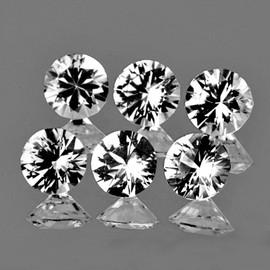 1.50 mm 6 pcs Round Diamond Cut Color D-F White Diamond Natural {VVS-VS}--AAA Grade