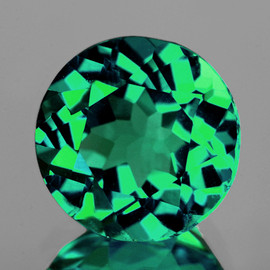 6.00 mm Round AAA Fire Intense AAA Chrome Green Apatite (VVS)