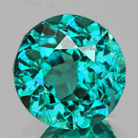 6.50 mm Round AAA Fire Intense AAA Paraiba Green Blue Apatite