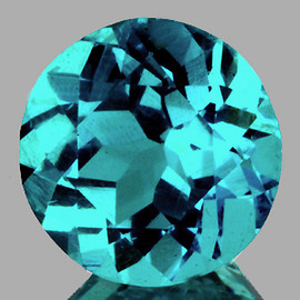 6.50 mm {1.13 cts} Round AAA Fire Paraiba Blue Apatite (VVS-VS)