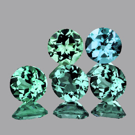 5.50 mm 5 pcs {3.31 cts} Round AAA Fire Mix Paraiba Green Blue Apatite