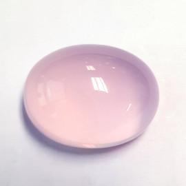 33.00 cts Oval Cabochon 23x18mm Pastel Pink Rose Quartz Natural {Flawless-VVS}