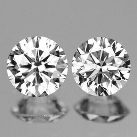 2.70 mm 2 pcs Round Color D-F Extreme Brilliancy Natural White Diamond {VVS} --AAA Grade