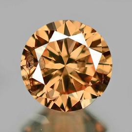 2.90 mm {0.09 cts} Round Diamond Cut AAA Champagne Diamond Natural {VVS CLARITY} AAA Grade