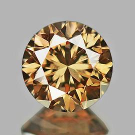 2.50 mm Round Brilliant Cut AAA Vivid Golden Champagne Diamond Natural {VVS CLARITY} AAA Grade