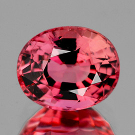 6.5x5.5 mm Oval {0.96 cts} AAA Fire AAA Padparadscha Pink Tourmaline Natural {Flawless-VVS}