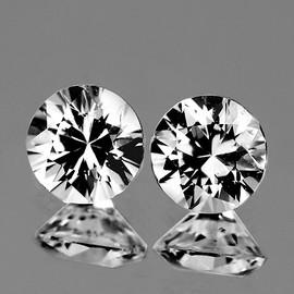 1.80 mm 2 pcs Round COLOR D-F White Diamond Natural {VVS} AAA Grade