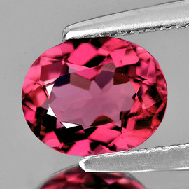7.5x6 mm Oval {1.02 cts} AAA Fire AAA Padparadscha Pink Tourmaline Natural {Flawless-VVS}