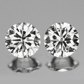 2.20 mm 2 pcs Round COLOR D-F White Diamond Natural {VVS} AAA Grade