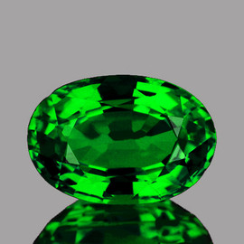 8x5 mm {1.16 cts} Oval Fire Emerald Green Tsavorite Garnet Natural{Flawless-VVS}