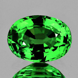 8x6 mm {1.28 cts} Oval AAA Fire Chrome Green Tsavorite Garnet Natural{Flawless-VVS}