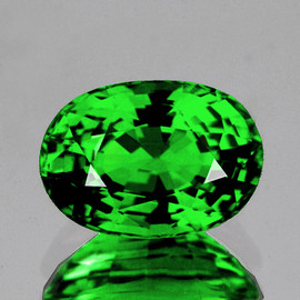 7.5x5 mm {1.31 cts} Oval AAA Fire AAA Chrome Green Tsavorite Garnet Natural {VVS}--AAA Grade