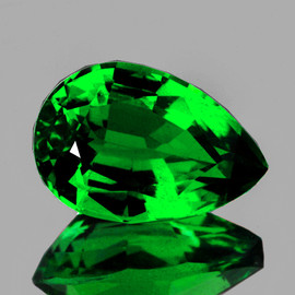 8x5 mm {1.00 cts} Pear AAA Fire Emerald Green Tsavorite Garnet Natural{VS}