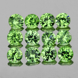 2.20 mm 20 pcs Round Diamond Cut Mint Green Tsavorite Garnet Natural {VVS}