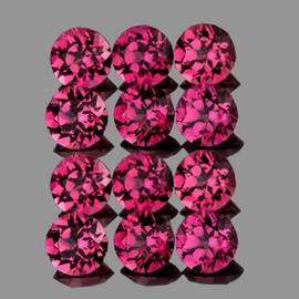 3.00 mm 12 pcs Round AAA Fire Raspberry Red Pink Rhodolite Garnet Natural {Flawless-VVS}