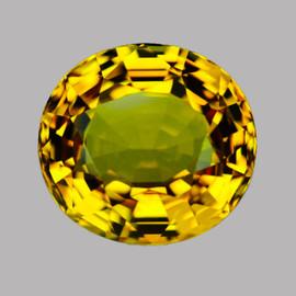 6.50 mm Semi-Round {1.34 cts} Intense AAA Vivid Yellow Mali Garnet Natural {Flawless-VVS}