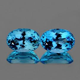 16x12 mm 2 pcs Oval AAA Fire AAA Sky Blue Topaz Natural {Flawless-VVS1}--AAA Grade