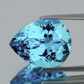 11x9 mm {3.53 cts} Pear AAA Fire AAA Sky Blue Topaz Natural {Flawless-VVS1}--AAA Grade