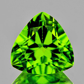 9.00 mm {2.65 cts} Trilliant AAA Fire Green Peridot Natural {VVS}