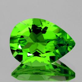 10x8 mm {2.27 cts} Pear AAA Fire AAA Green Peridot Natural {Flawless-VVS}