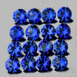 2.00 mm 25 pcs Round AAA Fire AAA Mozambique Blue Sapphire Natural (Unheated) {Flawless-VVS}--AAA Grade