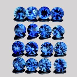 2.00 mm 30 pcs Round Machine Brilliant Cut AAA Ceylon Blue Sapphire Natural {Flawless-VVS}