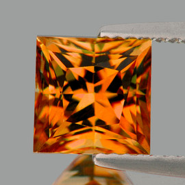 4.80 mm Square Princess Cut Best AAA Fire Intense AAA Golden Orange Sapphire Natural {Flawless-VVS}--AAA Grade