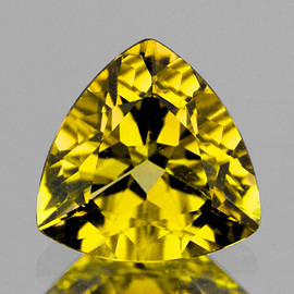 5.00 mm Trilliant AAA Fire AAA Yellow Sapphire Natural {Flawless-VVS}--AAA Grade