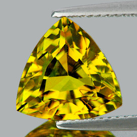 5.50 mm Trilliant AAA Fire AAA Yellow Sapphire Natural {Flawless-VVS}--AAA Grade