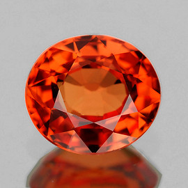6x5.5 mm Oval {1.15 cts} AAA Fire Natural Intense AAA Orange Sapphire {Flawless-VVS}