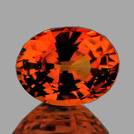 7x5 mm Oval {1.00 cts} AAA Fire Natural Intense AAA Orange Sapphire {Flawless-VVS}