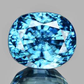 9x7 mm {3.60 cts} Oval AAA Fire AAA Blue Zircon Natural {Flawless-VVS1}